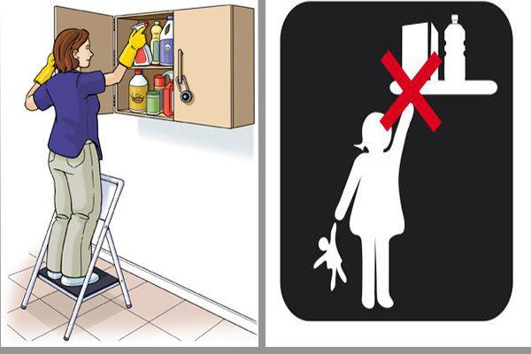 cách sử dụng chất tẩy rửa an toàn