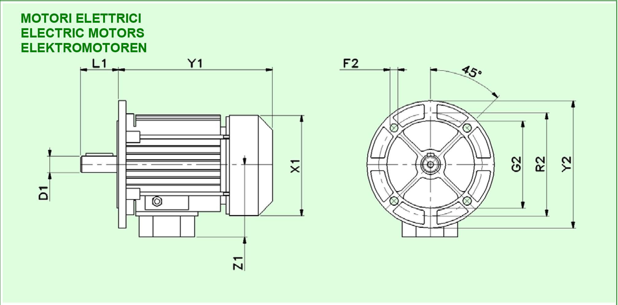 bản vẽ động cơ điện 3 pha varvel